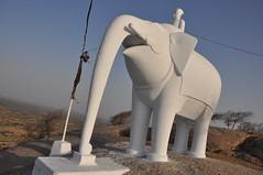 Narlai, Rajasthan (Monkey Images) Tags: elephant jainism narlai rajasthanindia2014