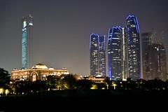 Emirates Palace & Etihad Towers (AdeyH) Tags: city skyscraper hotel gulf desert towers uae palace emirates abudhabi arab arabian jumeirah etihad