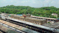 AERIAL VIEW OF HERITAGE BUILDING OF NAGPUR RAILWAY STATION (arzankotval2002) Tags: india asia maharashtra nagpur indianrailways centralrailway irfca arzankotval sonyhdrpj50e
