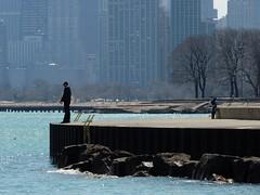 Not Today, No Sir (Chicago Man) Tags: city urban usa lake chicago man water skyline illinois fishing waterfront chitown scene lakemichigan chi lakefront chitownphotoscom johnwiwanski