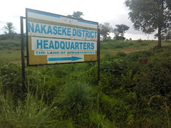 "NAKASEKE DISTRICT HQ SIGNPOST • <a style=""font-size:0.8em;"" href=""http://www.flickr.com/photos/123924652@N05/14012200222/"" target=""_blank"">View on Flickr</a>"