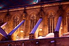 DSC_0039 (Enhanced Reality) Tags: winter light snow detail church night contrast nikon europe poland lit oldtown 2009 wroclaw d90