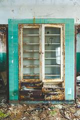 Medicine Cabinet (dave issod) Tags: old green abandoned youth tile moss nikon ruins peeling paint doors cabinet decay wide maryland center double tokina urbanexploration medicine asylum rundown urbex d700