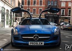 Mercedes SLS AMG PR09LEM (DHibbertPhotography) Tags: blue sports car mercedes problem exotic matte sls amg gulwing pr09lem