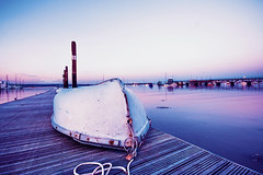 Full Moon (Anna Laviola Milo) Tags: ocean sunset sea moon love nature landscape coast pier boat weed dusk south sigma deck 1020mm moor waterscape 10mm canoneosrebelxs