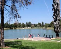 038 Fishing At El Dorado Lake (saschmitz_earthlink_net) Tags: california park lake losangeles parks eldorado longbeach orienteering 2014 losangelescounty laoc eldoradoeastregionalpark losangelesorienteeringclub