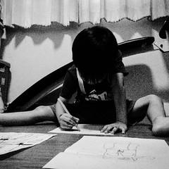#Drawing อารมณ์ไหนไม่รู้สองสามวัน ขอกระดาษกับปากกาสีไปวาดรูป #พ่อก็ติสแม่ก็ติส ^^