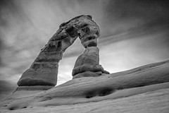 Arches BW7915 (brandon.vincent) Tags: park white black utah arch arches national canyonlands moab delicate
