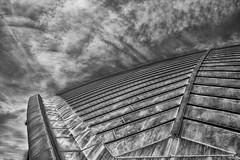 MIT Kresge Auditorium - The Roof (AliAlaz) Tags: cambridge sky bw usa monochrome boston architecture clouds ma unitedstates mit massachusetts newengland architect eerosaarinen massachusettsinstituteoftechnology kresgeauditorium nikond7100