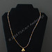 Necklace Gold and Black with Angel by Amy Woods Jewlery $15