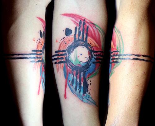 Watercolor Zia Symbol Tattoo A Photo On Flickriver