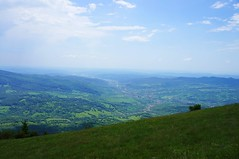 Panorama vaii Argesului de la 1500m