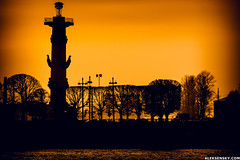 Sunset in Saint-P. (Vadim Aleksensky) Tags: city sunset red sky urban orange sun color colour silhouette architecture contrast canon eos cityscape bright outdoor sharp telephoto 5d saintpetersburg dslr tone distant urbanphotography spb toning 400mm eos5d canonphotography ef100400l
