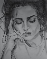 Helena Bonham Carter (Kellie_x) Tags: les tim drawing harry potter carter helena burton bonham miserables bellatrix lestrange