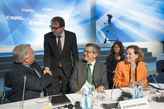 Frédéric Cuvillier; Alexander Dobrindt; José Viegas; Mary Crass during the Closed Ministerial Session
