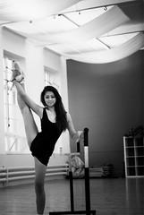 (marisolcollier1) Tags: ballet black girl dance contemporary leg pointe backandwhite barre balletbarre grandebattemente