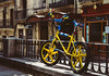 California Salabike (Walimai.photo) Tags: street blue bike bicycle yellow azul calle nikon bicicleta amarillo bici salamanca 18105 d7000