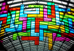 Chromolocomotion (peterphotographic) Tags: uk roof england london art glass station canon britain stainedglass stpancras camerabag2 canong15 chromolocomotion img0034cb2candyedwm