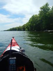 Kayaking on Lake Simcoe (caffeine_obsessed) Tags: lake ontario water boat kayak paddle simcoe