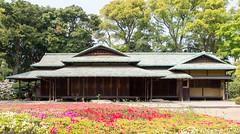 Ninomaru Gardens Suwanochaya Teahouse (Rambo2100) Tags: iris japan tokyo azaleas japon koborienshu suwanochaya ninomarugardens rambo2100 teaceremonypavilion fukiagegarden