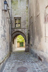 Through the arch (GEHPhotos) Tags: street france spring europe arch streetlamp path objects archway cobbles loen laon picardy phototype canoneos6d ef2470mmf28usmii