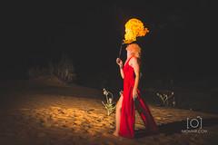 Fire Play (M.Omair) Tags: light playing fire lights nikon dubai photographer desert flash uae sb600 trails tokina single cooper helene performer speedlight f28 d610 1628 virgomair imomair