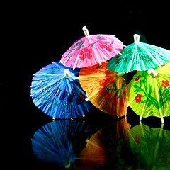 party umbrellas (muffett68 ☺ heidi ☺) Tags: party sweet explore umbrellas thereflections explored 166365 macromonday 365d colorwithblack isthistoofaraway for615