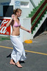Hot Feet (Steve Crane) Tags: road street people woman hot feet beach girl southafrica women candid burn bikini teenager accessories swimsuit sarong swimwear tar gordonsbay westerncape helderberg bikinibeach