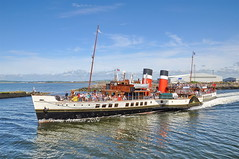 PS WAVERLEY, Departing Ayr For her monday sailing round ailsa craig (Time Out Images) Tags: scotland clyde south ayr waverley firth ayrshire