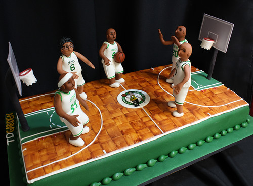 Celtics Players Court Cake