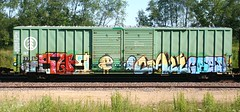 Sag/Craze/Cred (quiet-silence) Tags: railroad art train graffiti railcar boxcar graff ra craze freight sag iof cred fr8 ktc ibt ibt19792