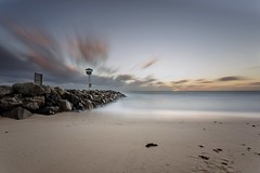 City Beach (Daniel E Lee) Tags: ocean longexposure winter sky bw seascape tower beach water clouds canon landscape photo sand rocks image july australia adobe perth canonef1740mmf4lusm westernaustralia manfrotto citybeach floreat 6d ndfilter manfrottotripod canon6d lightroom5 photoshopcc photosbydlee photosbydlee13