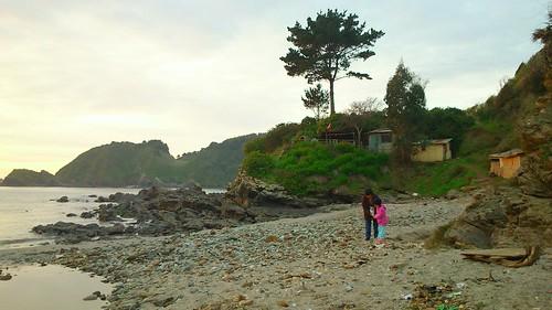 Playas ocultas en Talcahuano,  caleta el soldado
