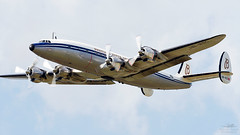 HB-RSC Lockheed L-1049F Super Constellation (Mike Palmer. Not the Milk Tray Man) Tags: fab plane canon airplane eos display aircraft aviation super aeroplane 300mm airshow international 7d connie lockheed propeller f28 farnborough prop airliner constellation breitling eglf hbrsc l1049f