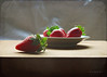 Sweet Fruits ... (MargoLuc) Tags: strawberries red fruits sweet healthy food light natural window table backlight white dish pottery soft stilllife texture skeletalmess