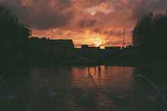 (marco.pavoni) Tags: film filmisnotdead fujifilm superia 100 iso contax contax167mt planar sunset warmtones clouds orange red 35mm expiredfilm