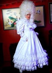 More Sissy Bride Stuff (jensatin4242) Tags: sissy crossdresser transvestite jensatin frilly sissybride satingown whitesatin bridalgown bighair