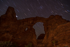 Turret Arch (fred h) Tags: ardhes3720178854 archesnationalpark turretarch lightpainting startrails