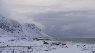 Lofoten beaches in winter have become popular ...
