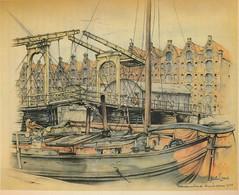 Anton Pieck- Bemin dan Amsterdam, 1948 ill  Prinseneiland (janwillemsen) Tags: antonpieck amsterdam bookillustration 19451948