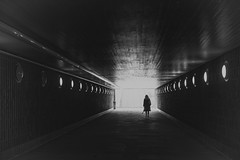 Alone in the Dark (Andrew G Robertson) Tags: ostermalm tunnel stockholm silhouette eerie sweden horror kristeneberg kungsholmen