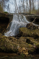 Falls at George Rogers Clark (+Lonnie & Lou+) Tags: nature travel waterscape waterfall longexposure nisi ohio springfield day spring creek landscape sony tennant forest 50mm sky rural oh usa