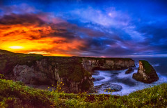 Fire & Ice (stuanderson7) Tags: pacific ocean landscape flowers cliffs water outdoor panorama weather clouds sonya6000 beach contrast fire grass california sky morning nightscape coast nature samyang12mmf2 pacificocean lightpollution longexposure