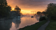Misty Morning (Nick L) Tags: river frome wareham dorset uk canon misty landscape sunrise dawn boats yachts reflection eos 5d dorsetmisty