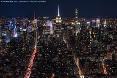 Midtown View from One WTC (20170408-DSC01526) (Michael.Lee.Pics.NYC) Tags: newyork onewtc observatory worldtradecenter aerial midtownmanhattan night longexposure timessquare esb empirestatebuilding chryslerbuilding bankofamericatower architecture cityscape sony a6500 nikon nikkor85mmaf18d