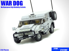 レゴ ウォードッグ多目的高機動車(LEGO War Dog Multipurpose High Mobility Vehicle) (popo lego) Tags: lego moc military army unarmored multipurpose high mobility vehicle レゴ 多目的 軍用車