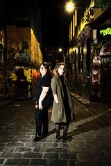 Lovely Marina & Paige (jdstrobist) Tags: city john lighttrails marina mike night paige phil