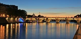 Pont Neuf Dôme de L'institut de France Tour Eiffel