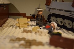 The Ardennes offensive [Alt] (♠York♠) Tags: lego ww2 wwii american german winter 1944 halftrack