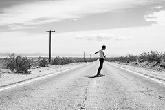 20170408 -desert_97 (Laurent_Imagery) Tags: skate skateboard skateboarding desert dunes road sky clouds weather noiretblanc blackandwhite blackwhite white light lightroom nikon d3 editorial magazine sector9 alone solo solitude sunglasses california statepark state north algodones glamis action lifestyle spring warm french frenchfashion frenchstyle
